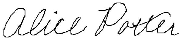 Signature Alice Potter