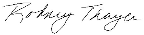 Signature Rodney Thayer