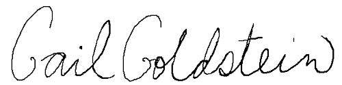 Signature Gail Goldstein