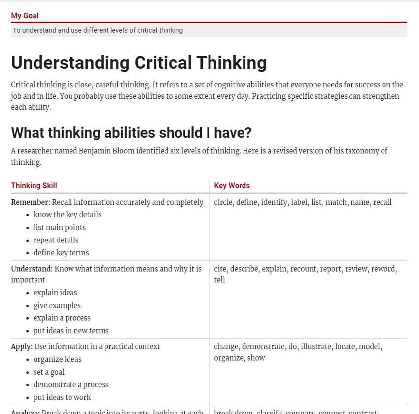 Clear Writing Through Critical Thinking
