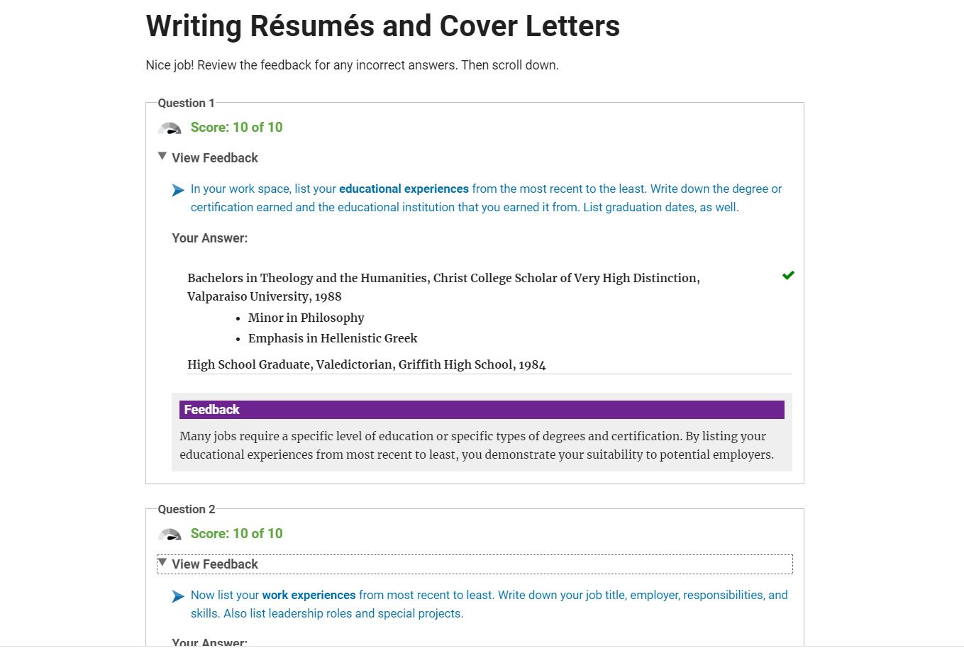 Writing Résumés and Cover Letters - Facilitator License
