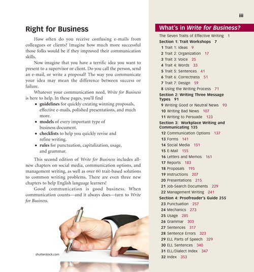 Write for Business page ii