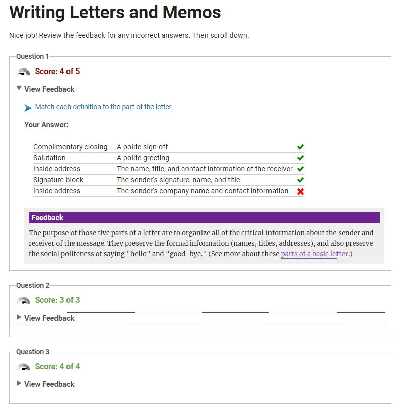 Writing Letters and Memos - Facilitator License