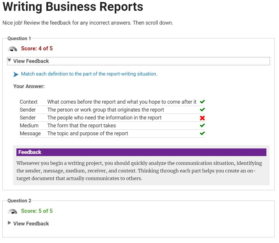 Writing Business Reports - Facilitator License